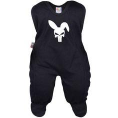 Grenouillère bébé noire : CRANE lapin