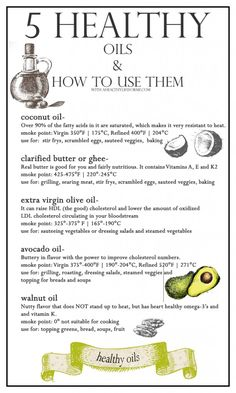 5 Healthy Oils - A Healthy Life For Me