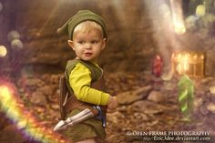 Kid Link discovers a cave of treasure and raindbows. He isn't sharing.