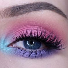 Makeup of the day pick goes to @thelanabeauty | Get this look with Sheer Miracle Pure Mineral Eye Shadow in Hot Fuchsia, Minty and Passion. Eye shadow tutorial. xo-Jane