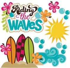 Riding The Waves SVG beach svg files ocean svg file surfboard svg surfing svg scrapbooking