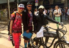Outdoor dolce &gabbana with blogger Peter and Cyprien