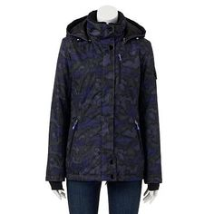 Zeroxposur Storm Shield Hooded Colorblock Jacket Women S