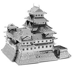 iLoonger® - 3D Laser Cut Building Metal Model Kit Metallic Nano Puzzle Educational DIY Assembling Toy - Japan Himeji Castle