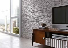 Panel Piedra is the good company and it has a long time experience in the segment of decorating home and other places with Imitation stone panels elements. Wooden Wall Panels, Decorative Wall Panels, 3d Wall Panels, Wall Cladding Panels, Stone Interior, Modern Interior Design, Painting Horizontal Stripes, Stone Cladding, Blank Walls
