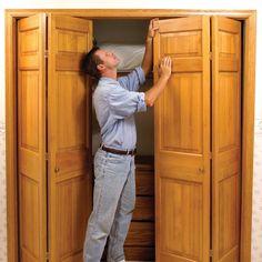 How to Fix Stubborn Bifold Closet Doors.