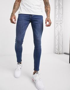 Jeans Skinny, Skinny Fit, Cotton Spandex, Blue Jeans, Safari, Asos, Tights, Shopping, Style