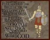 Armor of God - 8x10 art print - Children's artwork - Ephesians 6 -Bible art