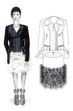Fashion Sketchbook - fashion illustration, fashion drawings, fashion portfolio // Sam Towner