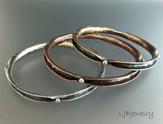 Silver Bangle Copper Bangle Brass Bangle Stacking Bangle