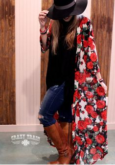 New Crazy Train Ring Around The Rosie Pink Rose Duster Womens Clothing Fashion  #CrazyTrain #Duster