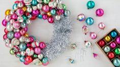 EL: Shiny Bright Ornament Wreath and more on MarthaStewart.com