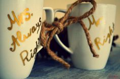 Mrs Always Right Mr. Right Mugs