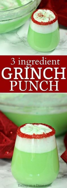 Easy Grinch Punch Recipe - Sherbet Punch - Christmas punch recipes - - The best Christmas punch recipes. You only need 3 ingredients for this Easy Grinch Punch Recipe. Everyone loves this simple Christmas Sherbet Punch recipe. Best Christmas Punch Recipe, Christmas Party Food, Christmas Drinks, Christmas Cooking, Holiday Drinks, Christmas Desserts, Holiday Recipes, Simple Christmas, Grinch Christmas