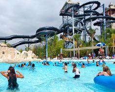 Best way to enjoy water park: Wave pool or extreme water slide? #SixFlags #WaterPark #WaterSlide