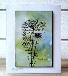 Splitcoast Stampers - distressed stain for the background ... Lovely