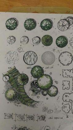 Best Ideas for landscape architecture poster design Landscape Architecture Drawing, Architecture Concept Drawings, Landscape Sketch, Architecture Graphics, Landscape Drawings, Cool Landscapes, Landscape Design, Architecture Awards, Architectural Trees