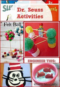 Dr Suess activities, books, crafts, snacks, preschool activities, toddler activities, www.naturalbeachliving.com