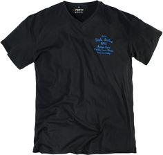 Ce tee-shirt imprimé pour homme forts vous offrira détente et satisfaction. Sa coupe droite et sa finition tendance mettra en valeur votre silhouette. Une couleur unie noire est toujours élégante dans la simplicité.
