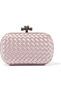 Bottega Veneta - The Knot watersnake-trimmed intrecciato satin clutch. Dust  BagLeather PursesRoseMetallic ... 60e1c32ea9ae3