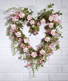 This Rosebuds Heart Wreath by Ohio Wholesale, Inc. is perfect! #zulilyfinds