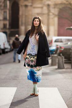 Avantgarde but feminine - fashion socks