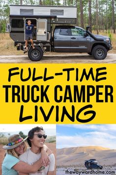 Couple goes through four rigs to find forever home This couple went through a VW campervan, an RV and a Toyota Tacoma with a shell before settling on a pop up truck camper by Four Wheel Campers for full-time RV living. Camping Hacks, Truck Camping, Camping Life, Rv Life, Truck Shells, Truck Camper Shells, Tacoma Camper Shell, Toyota Tacoma, Living On The Road