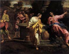The Samaritan Woman at the Well - Annibale Carracci.  Late 1500s (?).  Oil on canvas.  170 x 225 cm.  Pinacoteca di Brera, Milan, Italy.