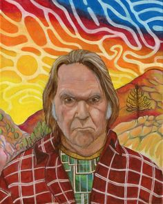 Items similar to Neil Young (Anagrams) - (print - portrait with California and trippy sky (Online Guy) on Etsy Sky Online, Neil Young, Trippy, Portraits, California, Landscape, Guys, Musicians, Artist