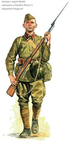 ARMATA ROSSA - Tiratore scelto del NKVD con carabina Mosin