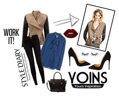 """yoins #workit"" by nylover-998 ❤ liked on Polyvore featuring Christian Louboutin, Ted Baker, Lime Crime and yoins"