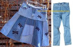 DIY Ideas to Refashion Old Jeans Free Templates: Top DIY Ideas to Repurpose Old Jeans into New Fashion Diy Clothes Refashion, Diy Clothing, Sewing Clothes, Upcycling Clothing, Jeans Refashion, Diy Jeans, Jean Crafts, Denim Crafts, Diy Clothes Videos