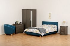 A fantastic looking bed with a fantastic looking price and available for next day delivery at no extra cost !This fabric bed offers a simple, comfortable look to any bedroom. Bed Frames, Double Beds, Prado, Delivery, Bedroom, Simple, Fabric, Blue, Furniture