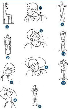 ejercicios para la rectificacion cervical