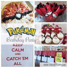 Cute food & favor ideas for Pokémon party Pokemon Themed Party, Pokemon Birthday, 7th Birthday Party Ideas, Boy Birthday, Kids Party Games, Party Activities, Pikachu, Food Decorations, Continue Reading