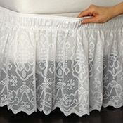 Eyelet Bedskirt Ruffle from Collections Etc.