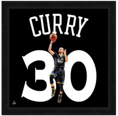"Stephen Curry Golden State Warriors - Officially Licensed 20"" x 20 Uniframe"