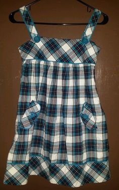 THE CHILDREN'S PLACE GIRL'S MULTI-COLORED PLAID JUMPER/DRESS  SIZE 12   NWT #THECHILDRENSPLACE #Everyday
