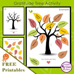 This Gratitude Tree Activity is a meaningful family activity for Thanksgiving or throughout the year. You can download the Gratitude Tree poster and separate leaves and print out them out for free. Once you have cut out the leaves, you can write or draw what you are grateful for and paste them on the Gratitude Tree. The outcome is beautiful.