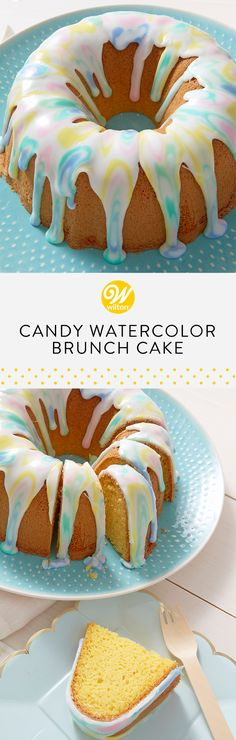 f you're in need of a dense cake for added structure or a delicious pound cake recipe, try making our pound cake from cake mix! Create a water colored marble glaze to great a simple yet beautiful look for your brunch sweets table! #wiltoncakes #brunch #brunchideas #brunchrecipes #brunchparty #brunchmenu #bruncheasy #weddingbrunch #brunchwedding #brunchhweddingshower #brunchweddingreception #brunchrecipesforacrowd #brunchtable #brunchtablescape #brunchfood #brunchbridalshowerideas