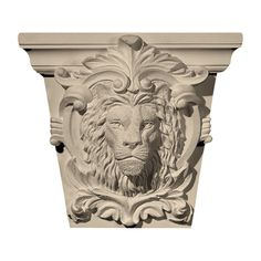 "Approx. 7"" x 5-3/4"" x 3-1/4"" Lion's face on shield. Designed to fit MLD-182 or MLD-183."