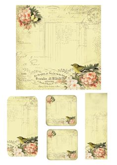 Astrid's Artistic Efforts: Friday Freebie Bird and Butterfly Images Vintage, Vintage Tags, Vintage Labels, Vintage Ephemera, Vintage Paper, Vintage Prints, Vintage Style, Vintage Roses, Printable Labels