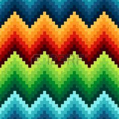 patr�n de chevron pixelada perfecta photo