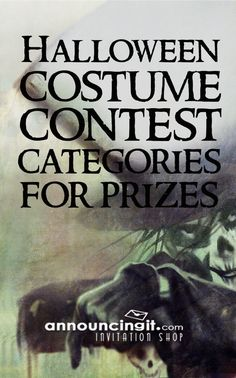 List of fun Halloween Costume Contest categories to award prizes for at your party. Is it time to order your Halloween invitations? Halloween Costume Awards, Halloween Trophies, Halloween Party Costumes, Halloween Carnival, Halloween Makeup, Haloween Party, Adult Halloween Party, Halloween Table, Halloween Desserts