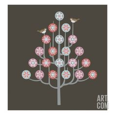 Snowflake Tree by Pop Ink - CSA Images. Print from Art.com, $19.99