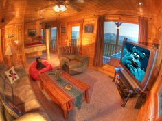 Cades Cove Vista Lodge - Enjoy an evening of fun in the Theater room! This is a gorgeous cabin, click here to see more: http://www.visitmysmokies.com/property-listings/cades_cove_vista_lodge/