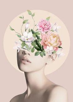 Floral beauty 5 Mini Art Print by Art Painting, Art Photography, Surreal Art, Mini Art, Collage Design, Framed Art Prints, Portrait Art, Pop Art, Aesthetic Art