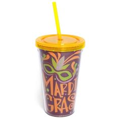 Mardi Gras insulated tumbler...perfect for the parade!