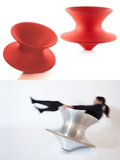 Designed in 2010 by Thomas Heatherwick for Magis, the Spun chair is meant…