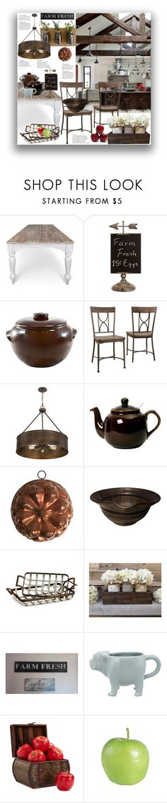 """""""Fixer Upper"""" by marionmeyer ❤ liked on Polyvore featuring interior, interiors, interior design, home, home decor, interior decorating, Cyan Design, Fishs Eddy, Nearly Natural and Sue Parkinson Home Collection"""